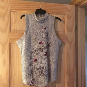 Sleeveless top with zipper, no tags, never worn